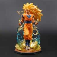 18 centimetri di Dialogo Figurine Super Saiyan 3 Son Goku PVC Action Figure Dragon Ball Z Modello di Raccolta DBZ Esferas Del drago Giocattolo OPP