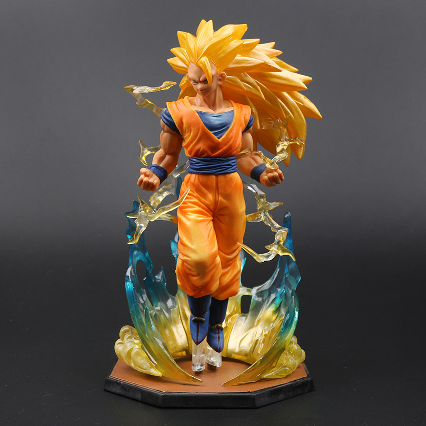 18cm boîte Figurine Super Saiyan 3 fils Goku PVC figurines d'action Dragon Ball Z Collection modèle DBZ esfera Del Dragon jouet OPP