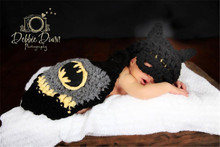 children newborn baby photography make up cosplay dress suits  batman cloak costume playing
