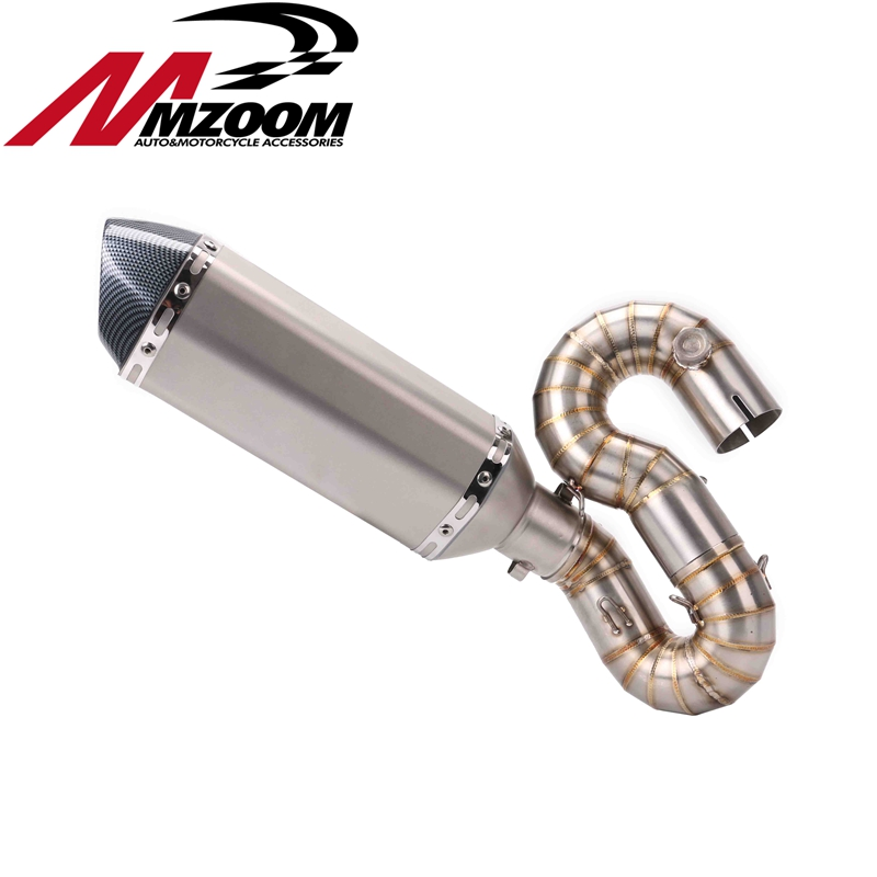 49mm-51mm Motorcycle Modified Exhaust pipe Muffler + Stainless Steel Half tube Exhaust Pipe for Honda cbr1000 2008 - 2013 high quality stainless steel motorcycle exhaust modified muffler pipe for kawasaki z750 zr750