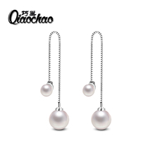 2017 New Design 925 Sterling Silver Wedding Drop Earrings With Imitation Pearl For Women Luxury European Jewelry