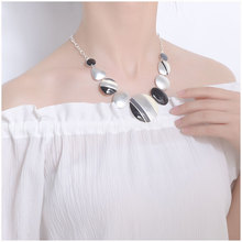 Ethnic Colorful Silver Plated Choker Necklace