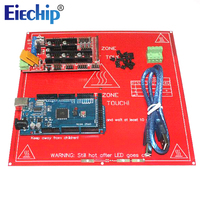 CNC 3D Printer Kit For Arduino Mega 2560 R3 Development Board Heated Bed MK2B RAMPS 1