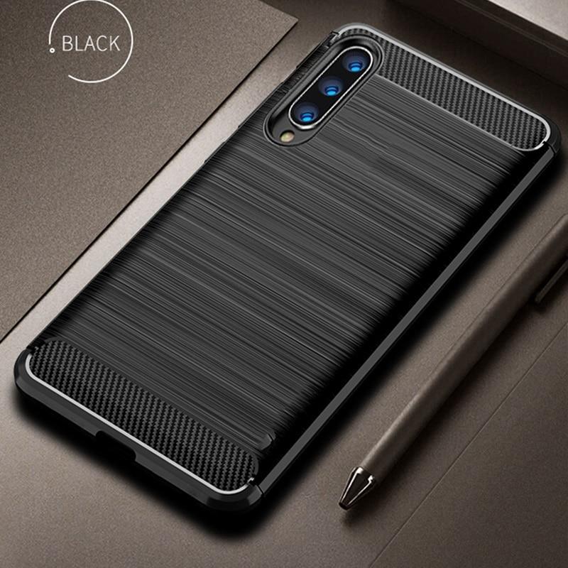 Case For Xiaomi Mi 9 Case Mi9 SE Cover Shockproof Protective Cover Carbon Fiber Silicone Case For Xiaomi Mi 9/ Pocophone F1 Case