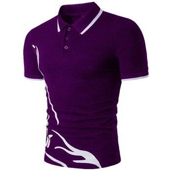ZOGAA hombre Polo marcas hombre Casual de manga corta de corte Slim Color sólido Polo camisa Anti-Psiquiatra rápido seco al aire libre