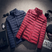 Brand Clothing 2016 Newest Men's Solid Parkas Winter Jacket Men Stand Collar Fashion Quality Padded For Men Overcoat AMD408