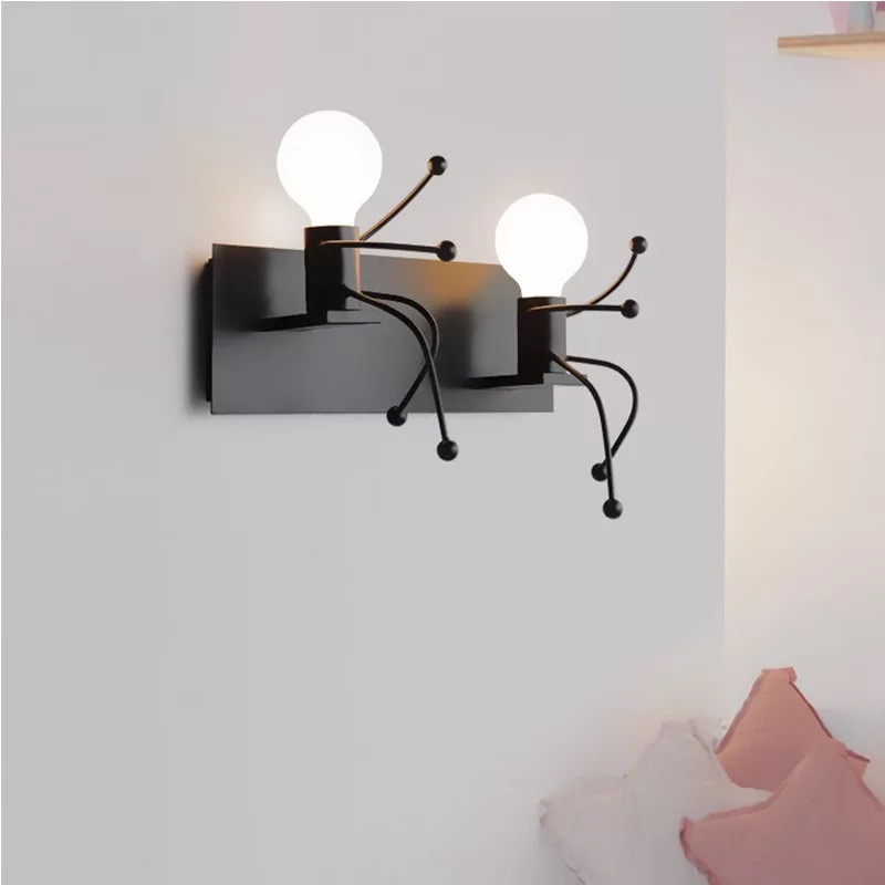 European style simple indoor lighting home study living room bedroom bed bar cafe KTV leisure hotel creative people wall lamp|Wall Lamps| |  - title=