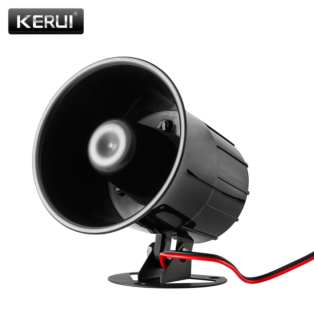 Wired Alarm Siren Horn Outdoor for Home Alarm System Security loudly sound siren hotselling dc 12v wired loud alarm siren horn outdoor for home security protection system alarm systems free shipping