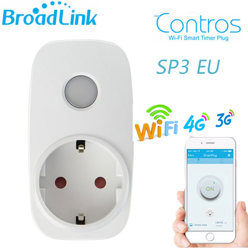 Broadlink SP3 SP CC Mini EU Contros Smart Home 16A Timer Smart Wifi Socket Plug, Ios Android Phone Smart Remote Wireless Control