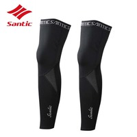 Santic Cycling Leg Warmers Men Winter Warm Fleece Bike Training Leg Sleeve Bicycle Cycling Legwarmers Leggings