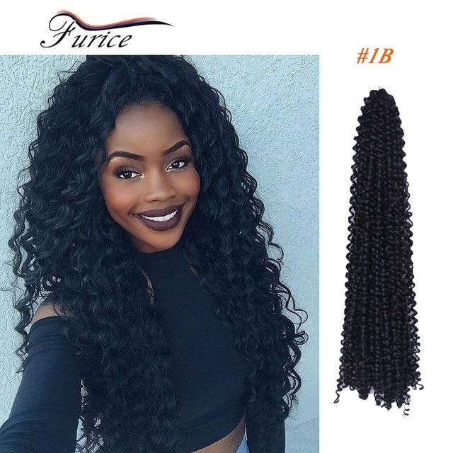 Water Wave Crochet Latch Hook Braiding Hair 18inch Freetress Curly Weaves