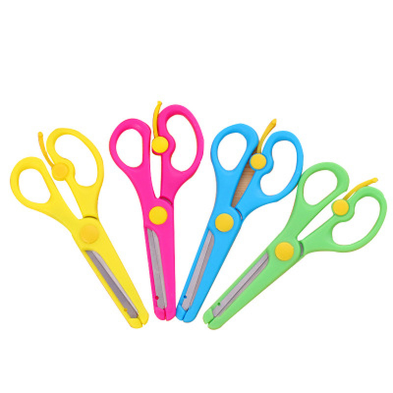 1PCS Mini Scissors Kawaii Stationery Children's Novelty Crafts DIY Plastic Scissors Students Cute Craft Kindergarten Supplies