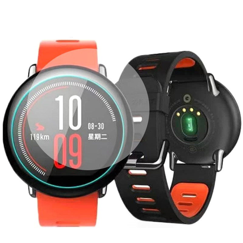 Tempered Glass Film For Xiaomi Huami Amazfit Sports Watch Cover Explosion-proof Protective Full Screen Film Toughened Glass Film 50x152cm safety film 4mil thickness transparent security glass protective tint film for window bathroom glass shatter proof