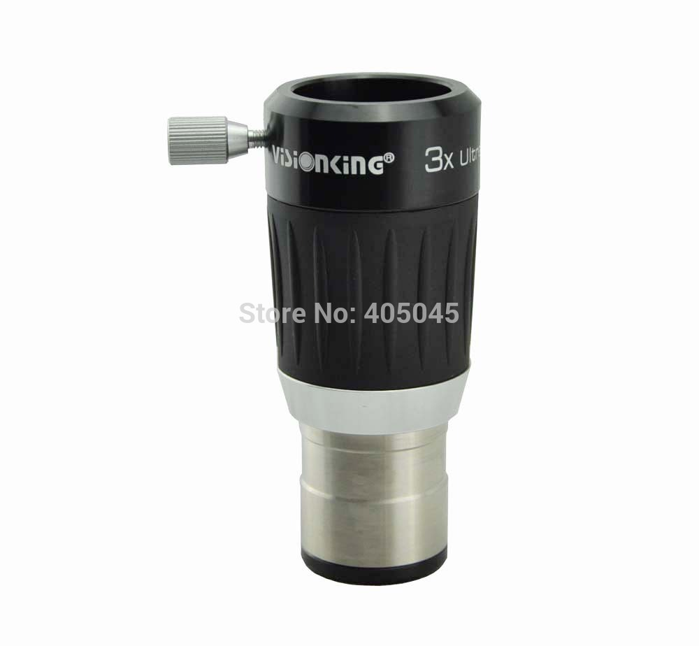 VISIONKING High Power 3x 4-Element Barlow Lens For 1.25'' Telescope Eyepiece Metal Body Fully Multi-Coated Barlow Lens Free Ship