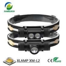Светодиодный мини налобный фонарь с ИК датчиком и зарядкой от