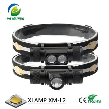 LED Mini Headlamp IR Sensor USB Rechargeable Headlight T6 L2 Zoom Waterproof 18650 Battery Ultralight Small head lamp flashlight 4400ma 18650 battery led headlight xml t6 l2 headlamp waterproof zoom head lamp rechargeable flashlight head torch light