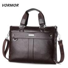 VORMOR 2017 font b Men b font Casual Briefcase Business Shoulder Bag Leather Messenger Bags Computer