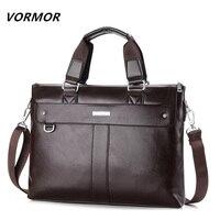 2015 Men Casual Briefcase Business Shoulder Genuine Leather Messenger Bags Computer Laptop Handbag Bag Men S