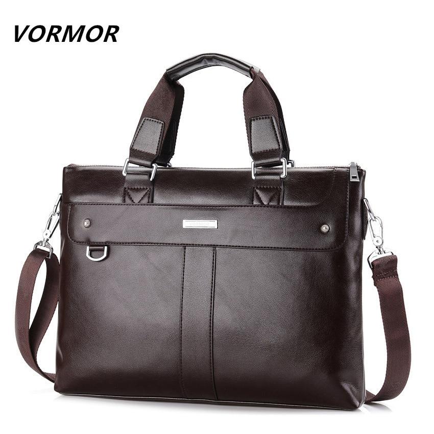VORMOR 2018 Men Casual Briefcase Business Shoulder Bag Leather Messenger Bags Computer Laptop Handbag Bag Men's Travel Bags