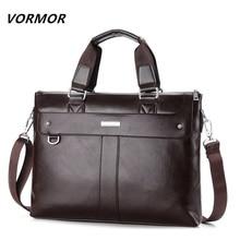 VORMOR 2018 Men Casual Briefcase Business Shoulder Bag Leather Messenger Bags Computer Laptop Handbag Bag Men
