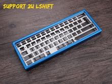 Xd60 xd64 gh60 60% анодированный алюминиевый корпус для DIY Механическая игровая клавиатура