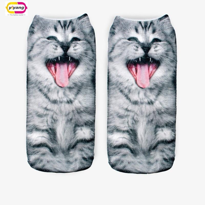 20 Colors You can choose 3D Print Animal women Socks Casual cartoon Socks Unisex Low Cut