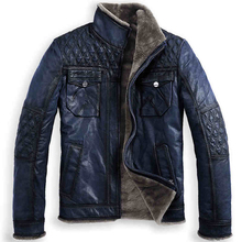 2014 FREE SHIPPING  b3 fur one piece male cowhide fur jacket vintage outerwear genuine leather clothing