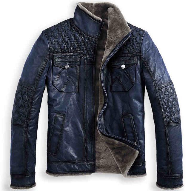 2014 envío gratis b3 piel de una pieza macho pelaje piel de vaca vendimia de la chaqueta prendas de vestir exteriores genuina