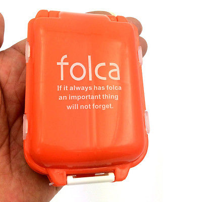 Folding Vitamin Medicine Box Portable Drug Pill Storage Case Container Holder