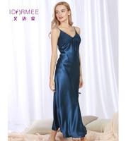 IDARMEE S1012 Brand New Upscale Women Nightgowns Faux Silk Plus Size Ladies Splitting Summer Long Sexy