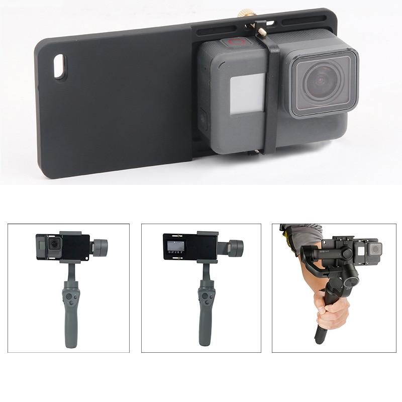 Camera Mount Plate Adapter For GoPro Hero 7 6 5 4 Yi 4K DJI Osmo 2 3 Gimbal Handheld Zhiyun Smooth 4  Mobile Handheld Gimbal
