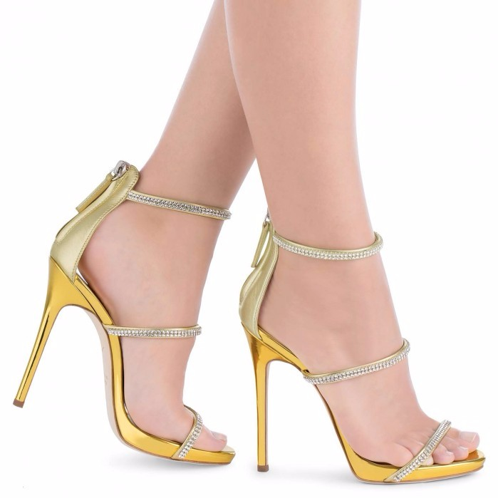 ФОТО Fashion hot sale woman sandal sexy open toe ankle strap gladiator crystal thin heels sandal shoes woman free shipping