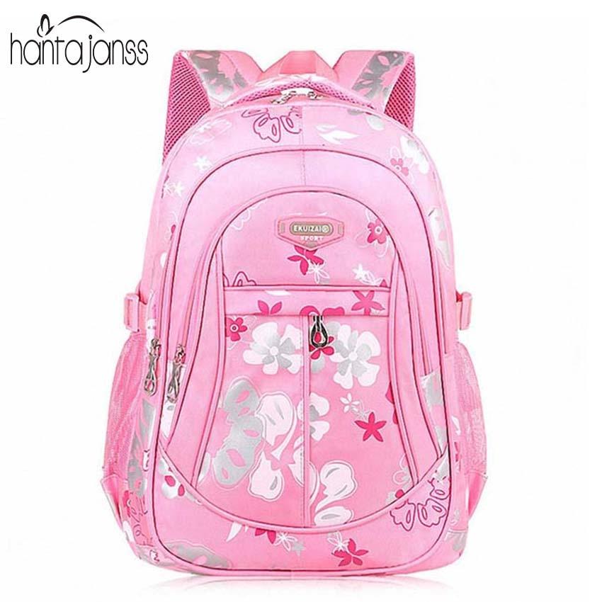 HANTAJANSS Primary Children Backpack School 2016 New Grade 4-6 Boy Girl Students Bags Large Capacity