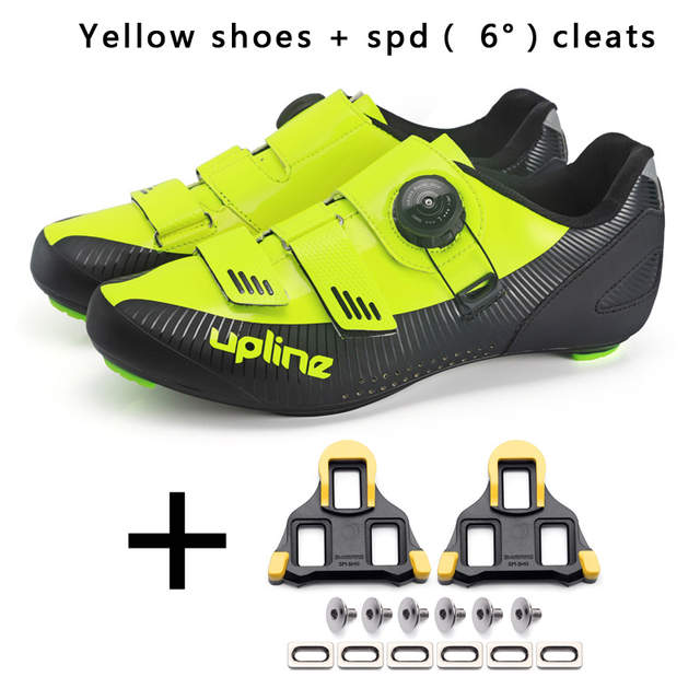 US $59.24 29% OFF 2019 upline road cycling shoes for SPD KEO ultralight racing road bike shoes men women professional bicycle sneakers breathable in