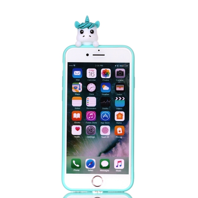 iPhone 3D Unicorn Panda Dog Silicone Case Cover for iPhone  5, SE, 5s, 6 Plus, 6 , 6s, 6s plus, 7, 7 Plus, 8, 8 Plus, X, XR , XS, XS MAX