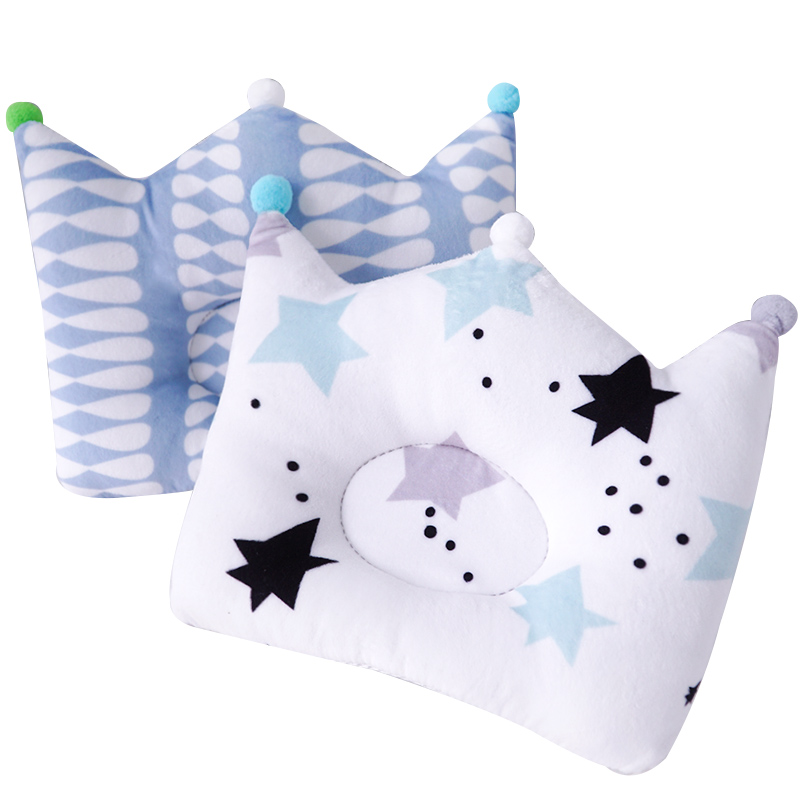 Muslinlife Crown Infants Shaping Pillow Nursing Cute Headrest Pillow 3D Breathable Baby Kids Pillow Pillows Decoration Dropship