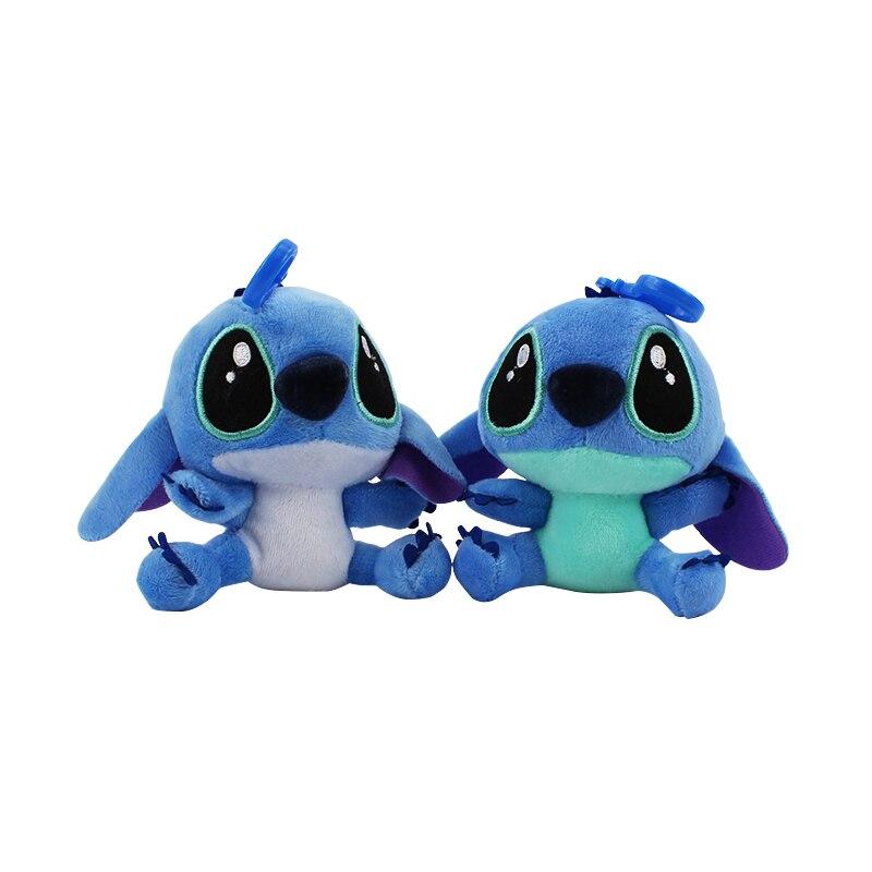 2color Mini Stitch Plush Toys Stuffed Soft Animal Cartoon Plush Lilo Stitch Pendant with hook Toys for kids baby gifts