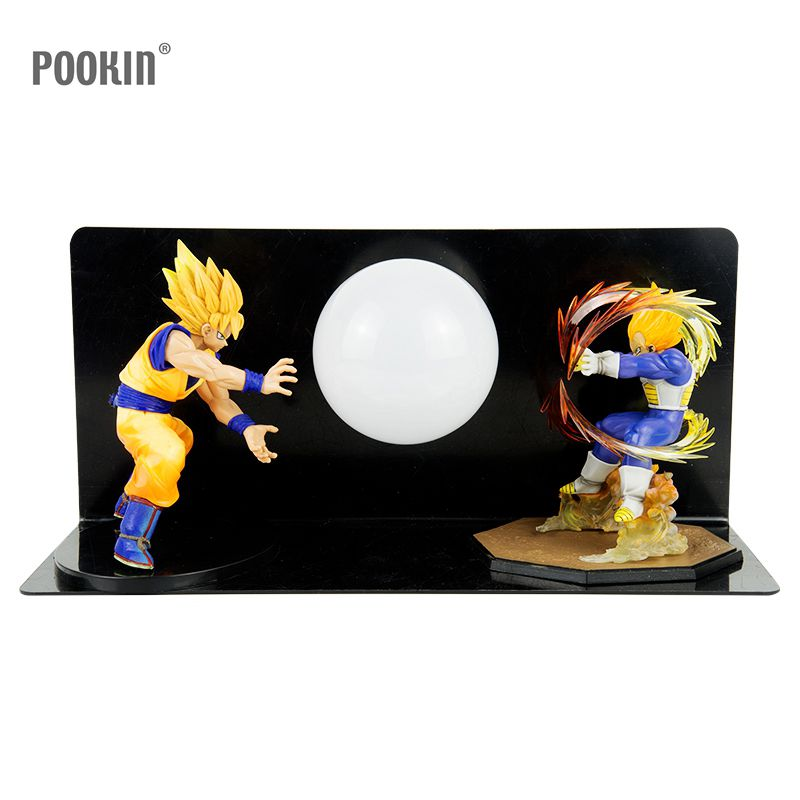 Double Dragon Ball Son Goku Strength Bombs Luminaria Led Night Light Holiday Gift Room Decorative Led