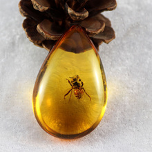 Ornament Necklace Insects-Stone Amber Butterfly Pendant-Sweater Sweater-Decorations Craft