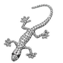 Autocollant Logo solide en métal strass, décor de voiture camion, emblème 3D lézard Gecko, autocollant, accessoires de style automobile