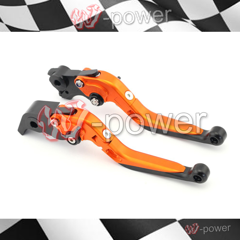 fite For KTM 1190 Adventure 2013-2014 Motorcycle Accessories Adjustable Folding Extendable Brake Lever Orange for ktm excr