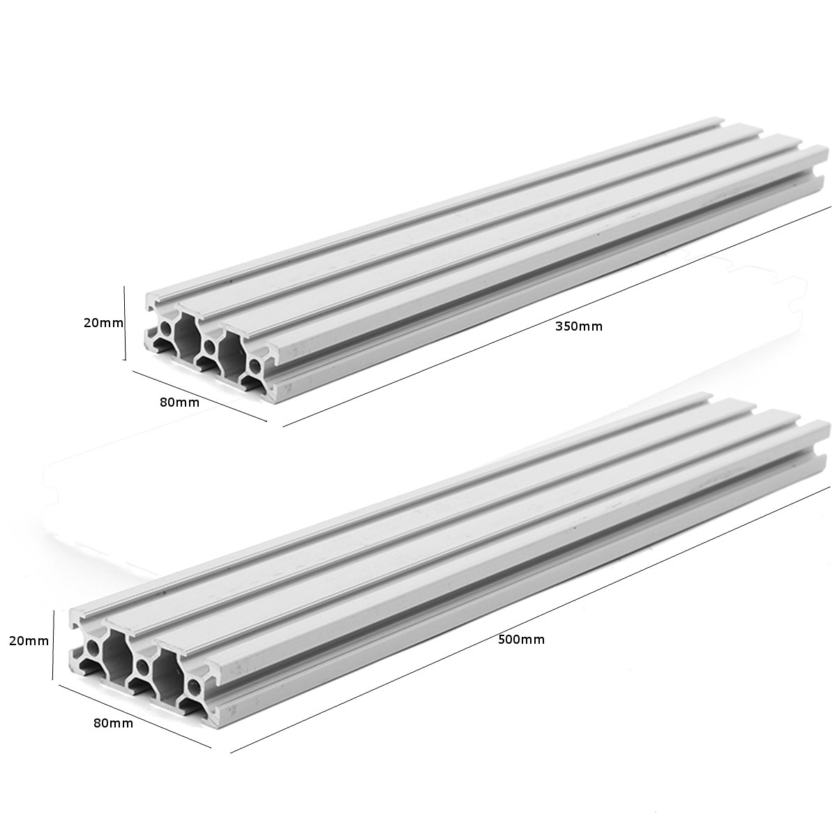1PC HL2080 Length 350mm / 500mm 2080 T-Slot Aluminum Profiles Extrusion Frame For CNC 3D Printer Parts DIY High Quality high quality 500mm length 4040 double t slot aluminum profiles extrusion frame based on 2020 for cnc 3d printers plasma lasers