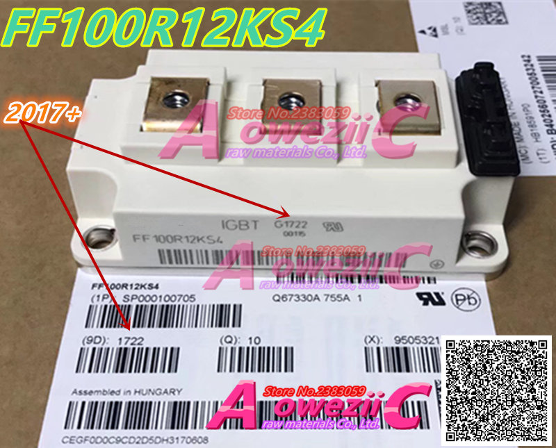 Aoweziic 2017+ 100% new imported original FF100R12KS4 high precision insulated gate driven IGBT power: 100A 1200V aoweziic 100% new imported original lm3s9b96 lm3s9b96 iqc80 c5 lqfp100 microcontroller mcu chip