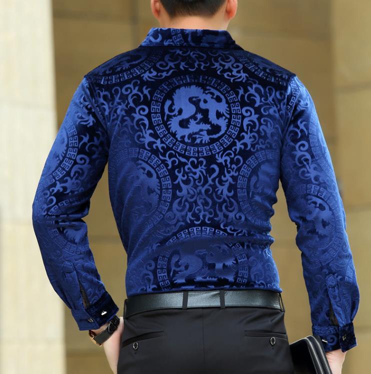 Top Moda Trendy Luksusowe Męskie Jedwabne Koszule Formalne