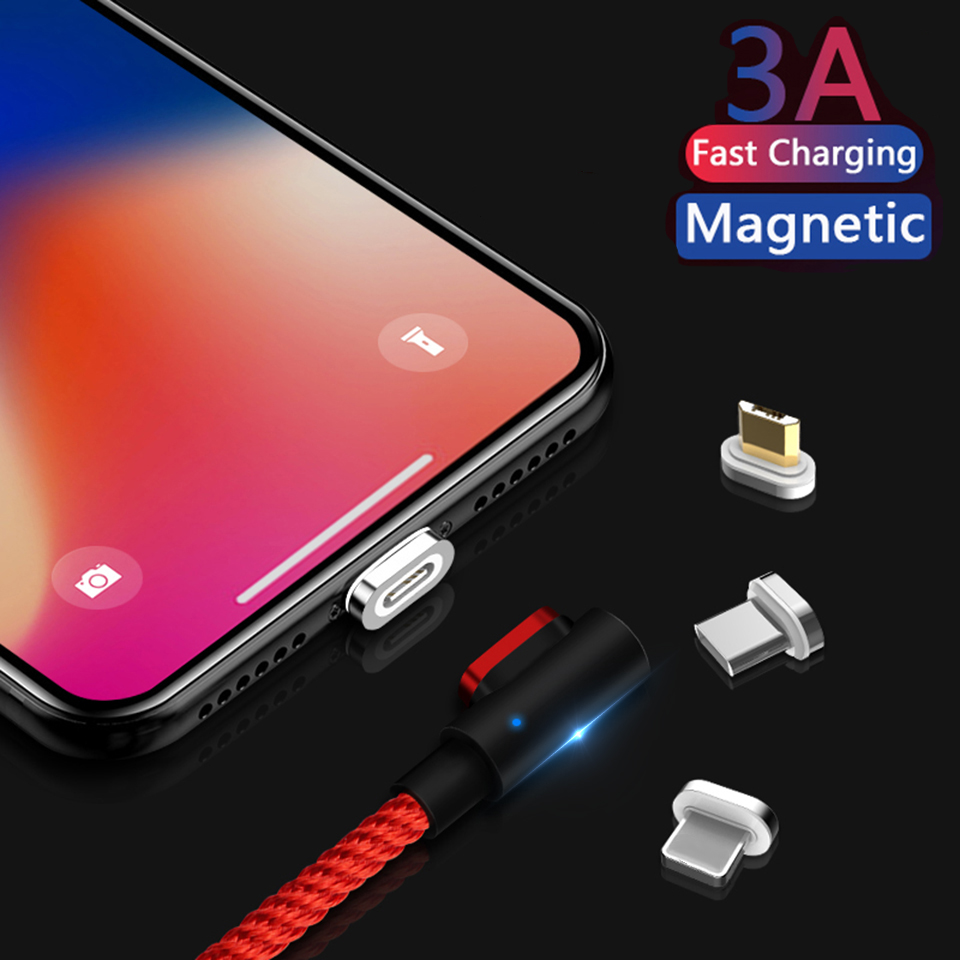 90 Degree Magnetic Micro Usb Charging Wire Cord for Gaming Usbc Magnet Cable for Huawei P30 P20 Pro Xiaomi Redmi 8 8A Tipo C|Mobile Phone Cables| |  - AliExpress