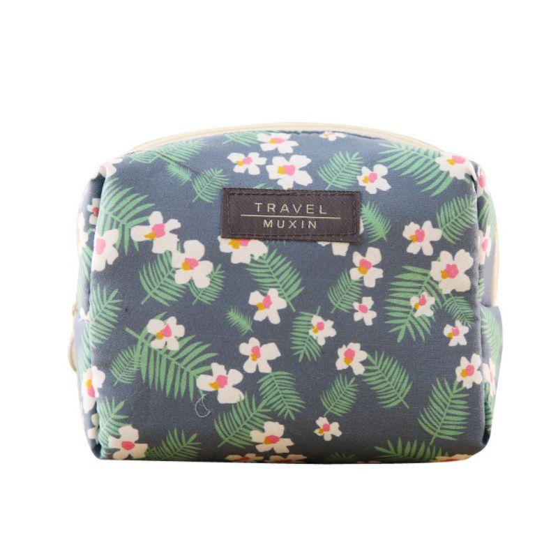 Sweet Flower Fashion Women Girls Case Makeup Portable Travel Storage Bags Beauty Set Mini Cosmetic Bag Home Storage Organization
