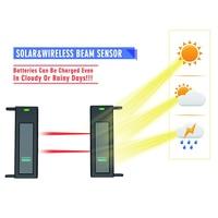Solar Wireless Driveway Alarm System 1/4 Mile Long Transmission Range 190 Feet Wide Sensor Range No Wiring No Need(EU Plug)