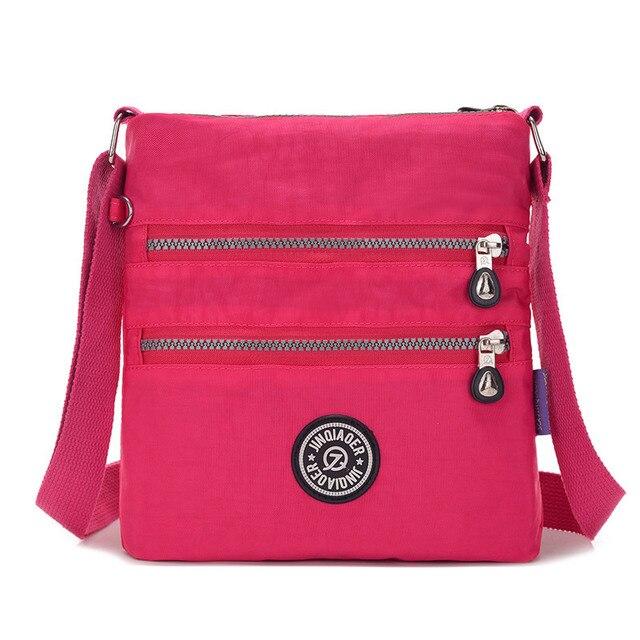 Us 9 5 39 Off Jinqiaoer Brand Small Nylon Messenger Bag Women Waterproof Crossbody Bags Double Layer Satchels Shoulder For Iphone Bolsa In