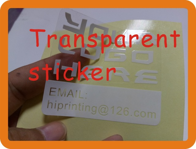 Custom printed waterproof die cut logo adhesive transparent sticker custom adhesive sticker printing