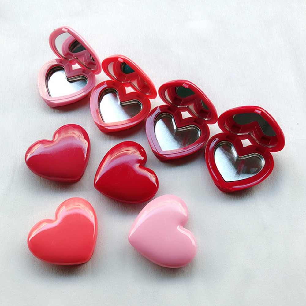 Love Heart Shape pusty Eyeshadow Case Rouge pudełko na szminki paleta pigmentowa wielokrotnego napełniania fundacja makijaż dozownik nowość